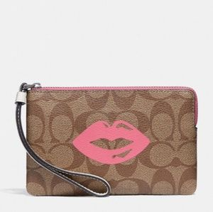 NWT Coach Wristlet with Lips